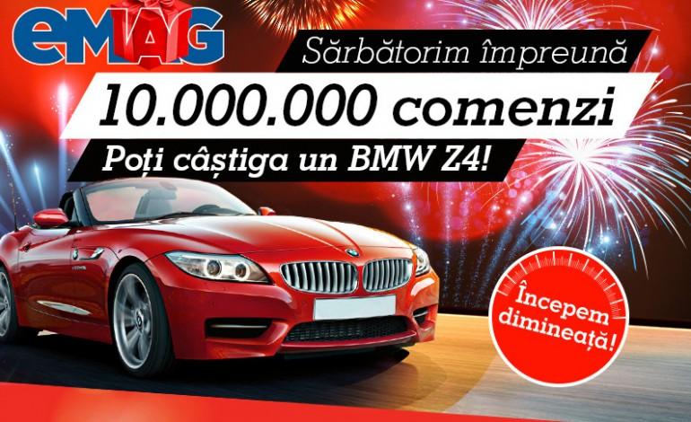 eMAG.ro sarbatoreste 10.000.000 de comenzi printr-un CONCURS! Poti castiga un BMW Z4!