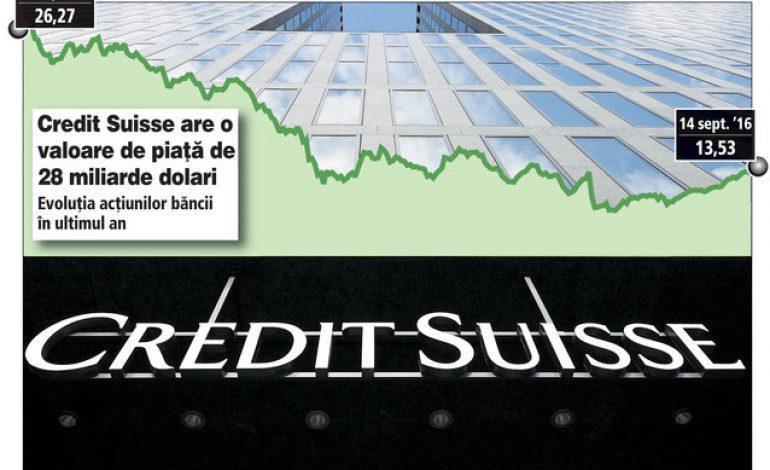 Actiunile bancii elvetiene Credit Suisse au scazut cu 50% in ultimul an