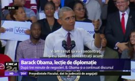 VIDEO | Lectie de diplomatie by Barack Obama