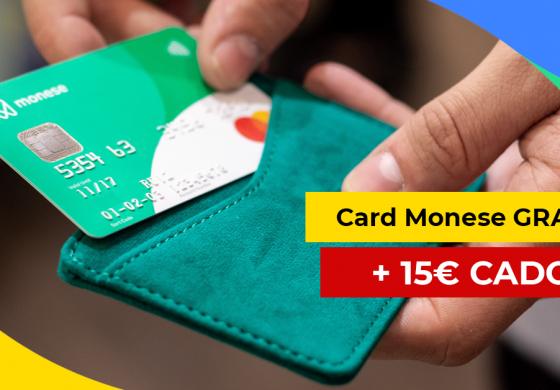 Descarcă aplicația Monese și primești un card gratuit + 15 euro cadou!
