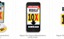 Cartea Regula 10X by Grant Cardone tiparită sau MP3: Singura diferență dintre succes și eșec (engleză sau română)