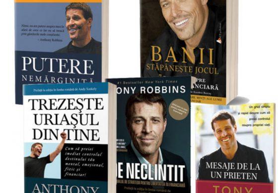 Pachet cărți Tony Robbins – 5 Cărți din care oricine are ceva de învățat