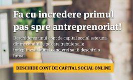 Antreprenoriat de la BT: Contul de capital social se poate deschide acum online