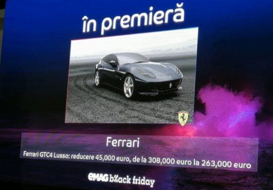Ferrari – Cea mai mare reducere de Black Friday la eMag: 45.000 de euro