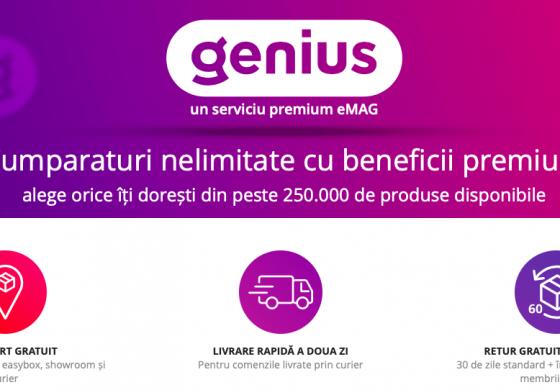V-ați activat serviciul Genius de la eMAG ? Costă doar 8,25 lei, dar schimbă radical felul în care cumperi online